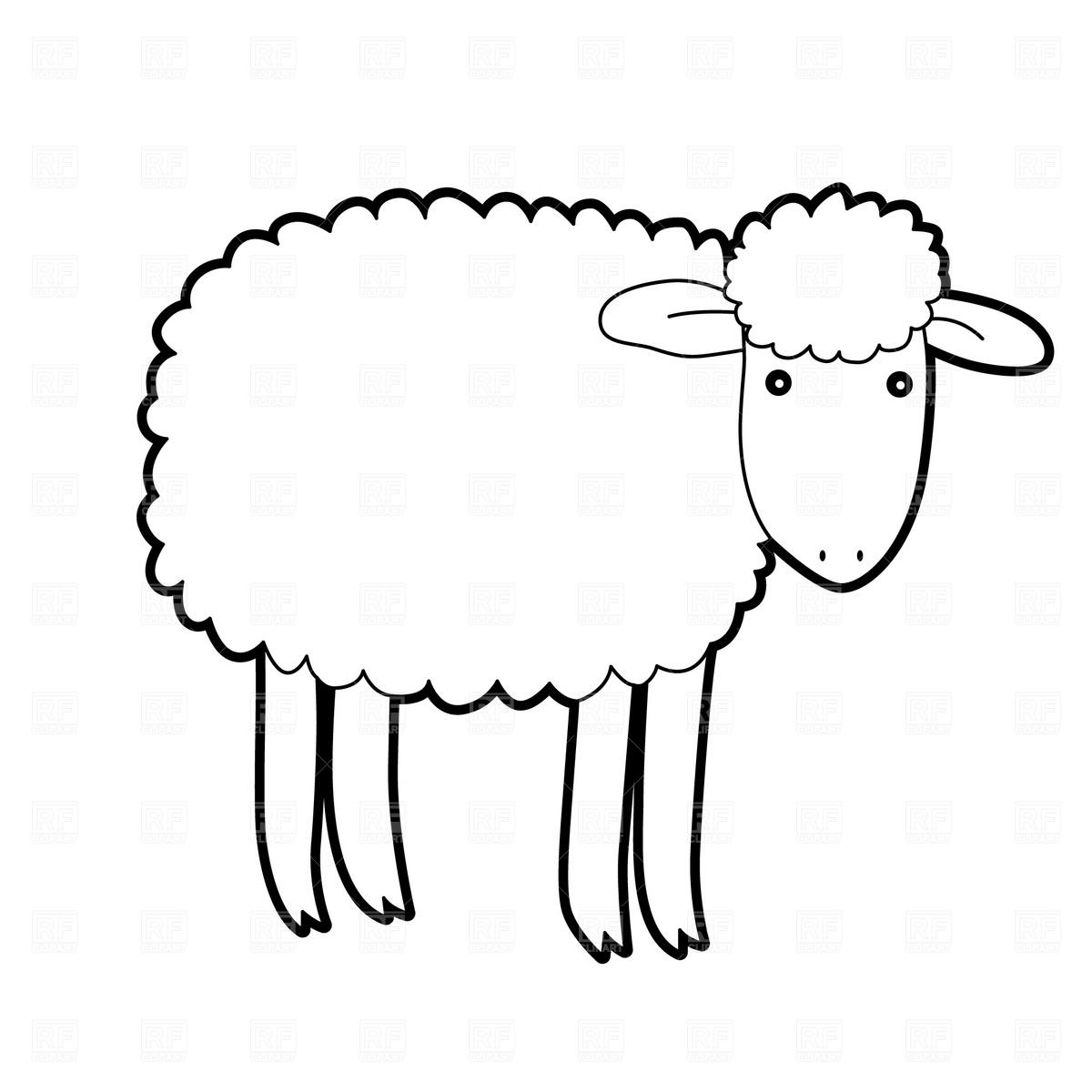 Lamb clipart black.