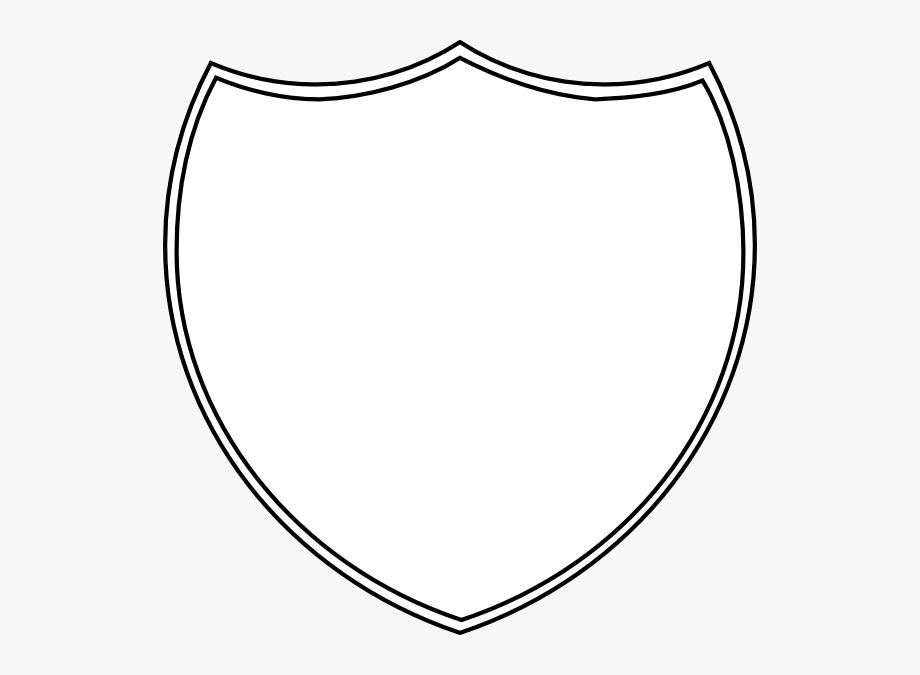 Shield clipart blank.