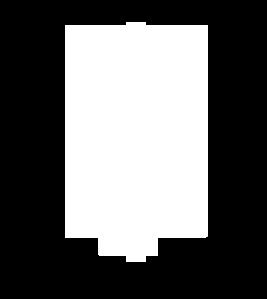 Blank white shield.