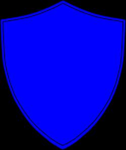 Royal blue shield.