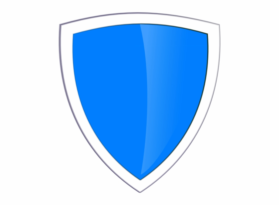 Blue shield clip.