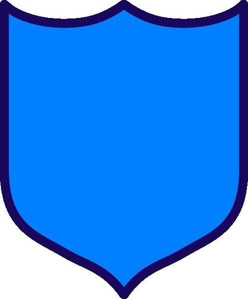 Dark blue shield.