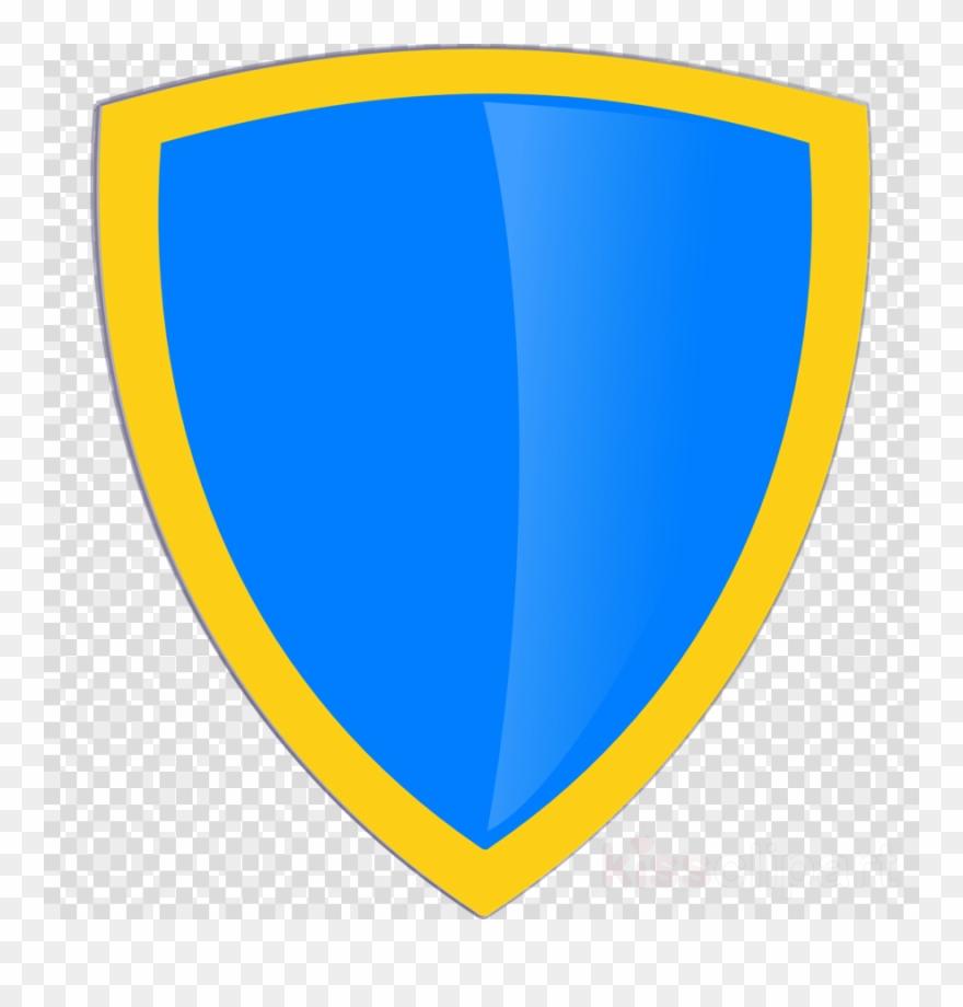 Blue gold shield.