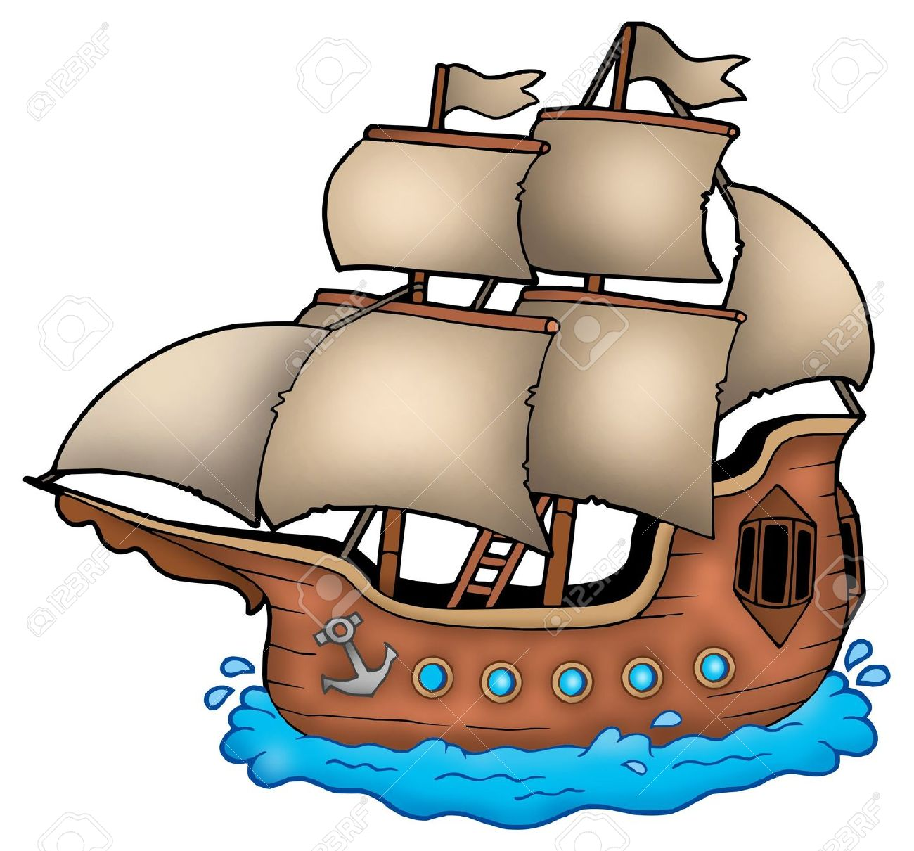 Pirate Ships Clipart