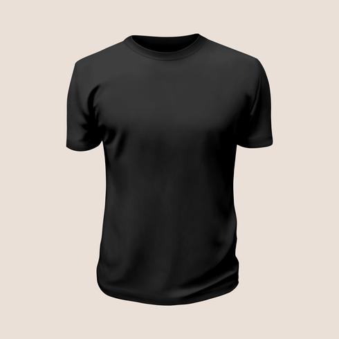 Tshirt vector black.