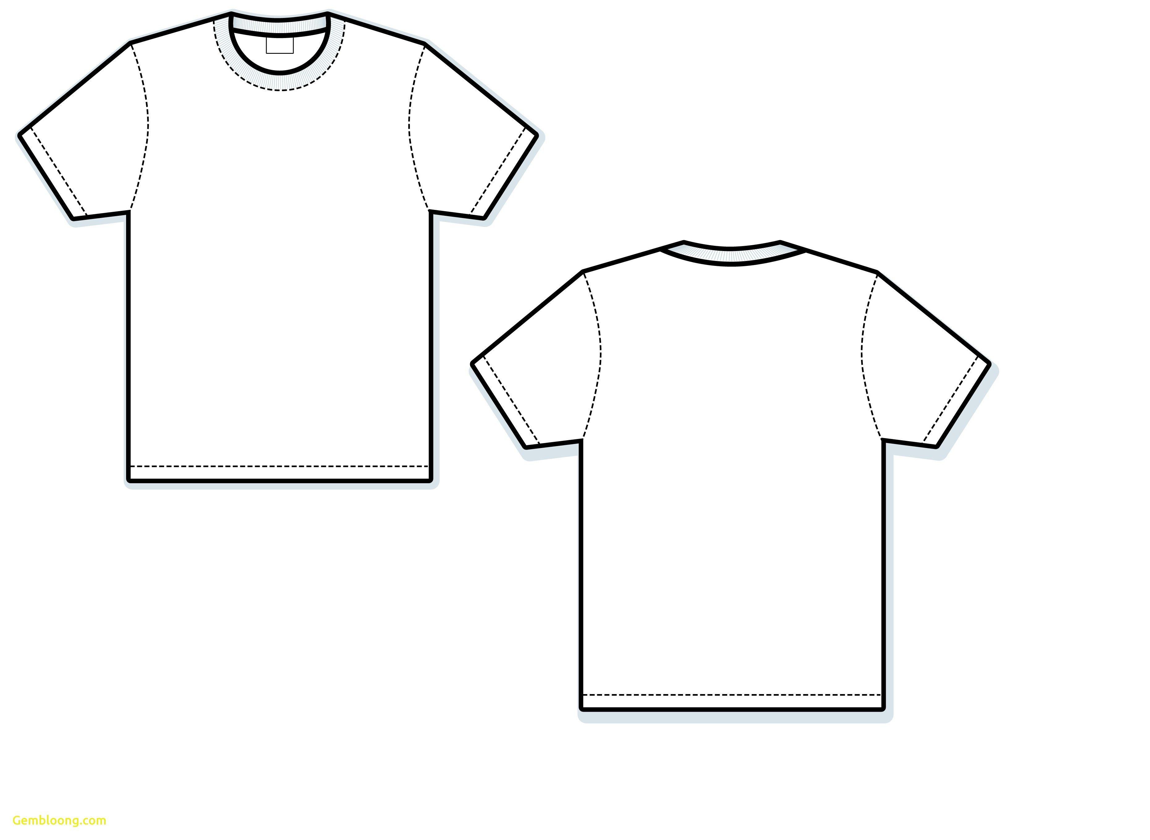 Shirt vector template.