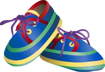 Boys shoe clipart.