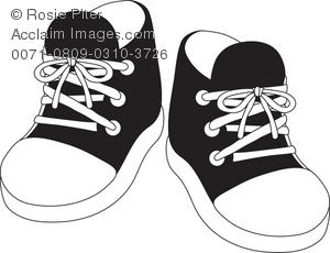 Boy shoes clipart.