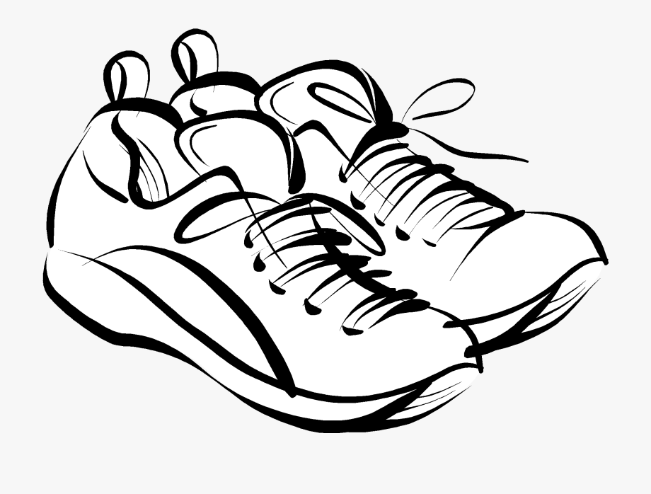 Running shoes clipart.