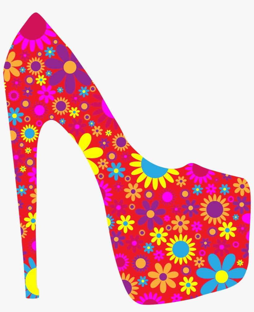 Floral shoe png.