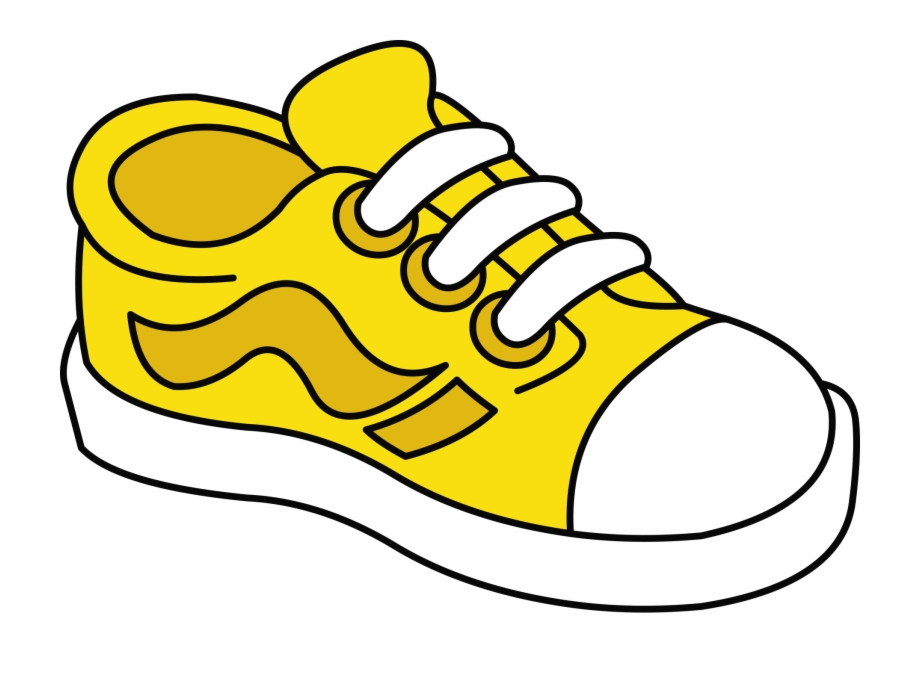 Yellow shoe cliparts.