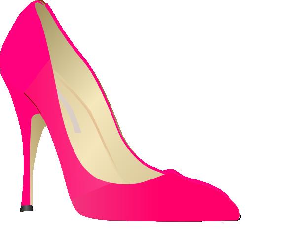 Pink high heels.