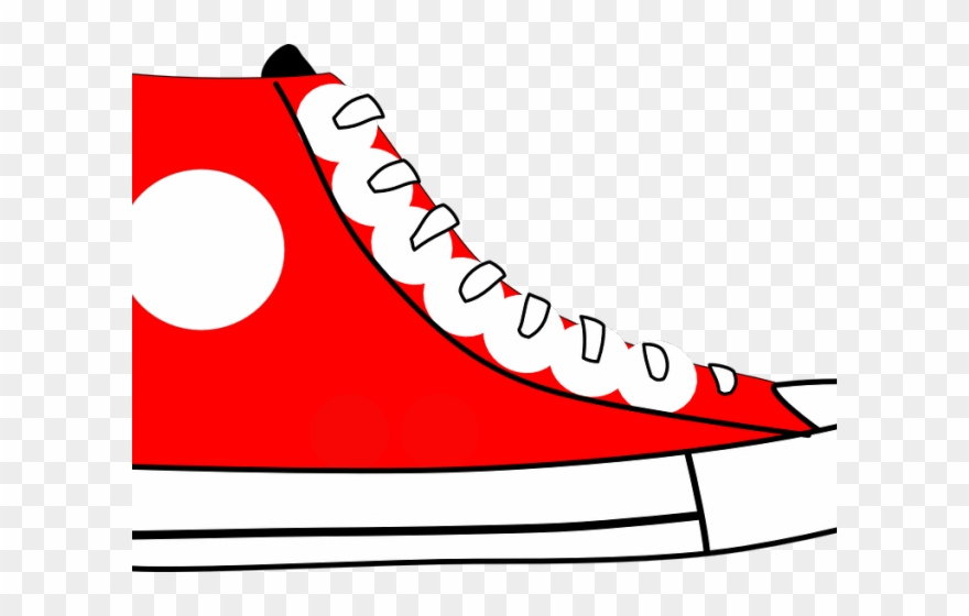 Gym shoes clipart.