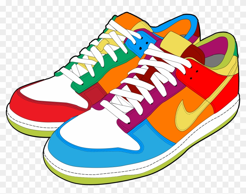 Colorful sneakers png.
