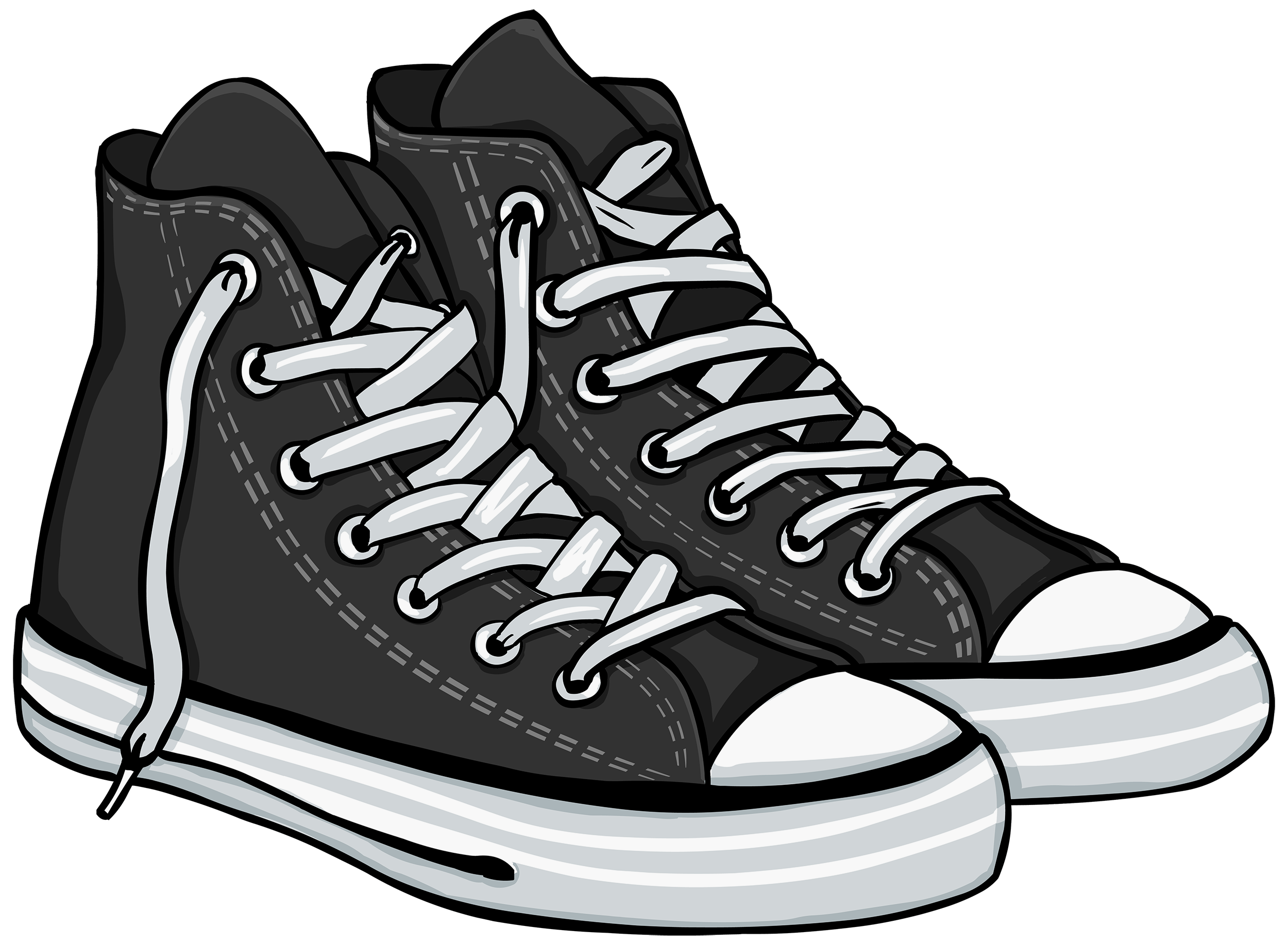 Tennis shoes clipart.