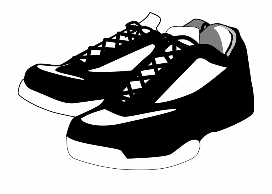 Tennis shoe clipart.
