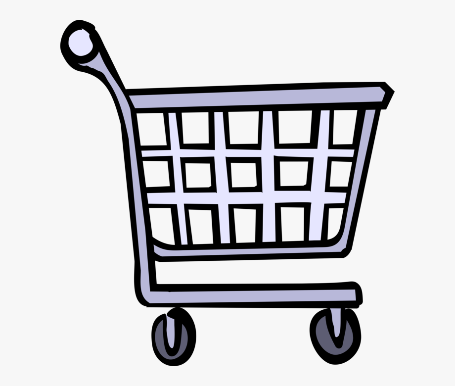 Cart vector grocery animated.