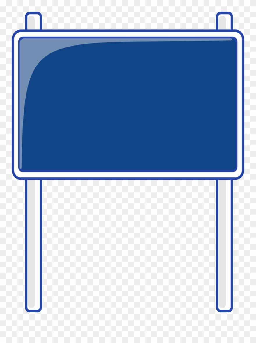 Blank highway sign.