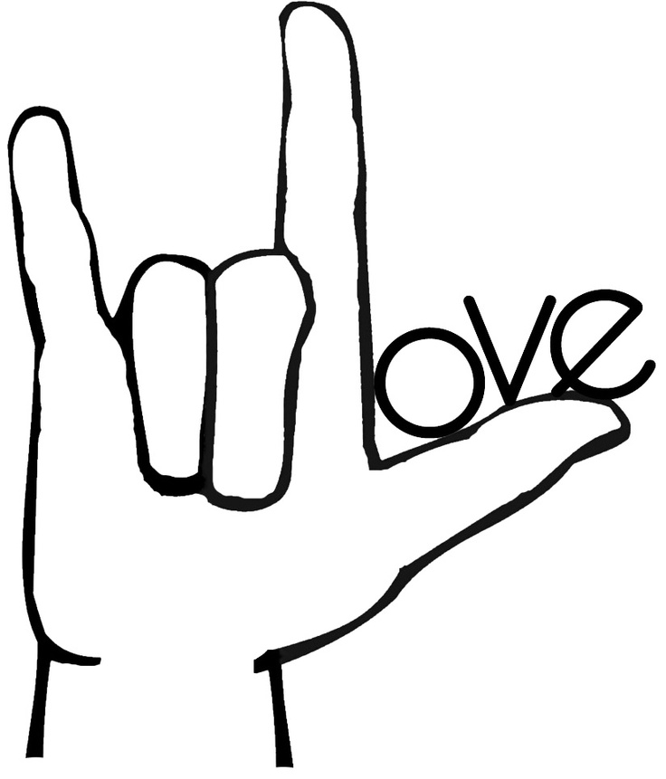 sign language clipart friend