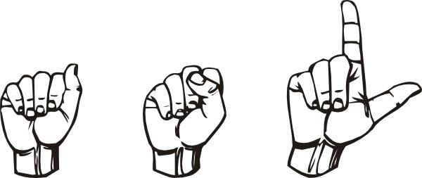 sign language clipart asl