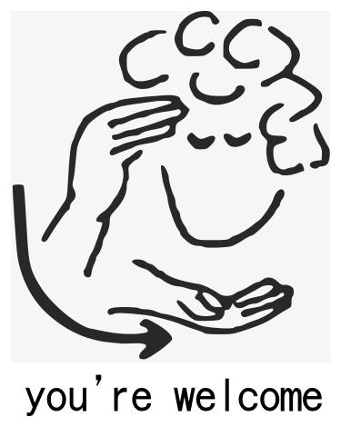 sign language clipart welcome