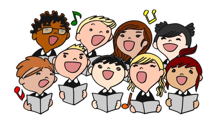 Christmas Choir Singing Clipart
