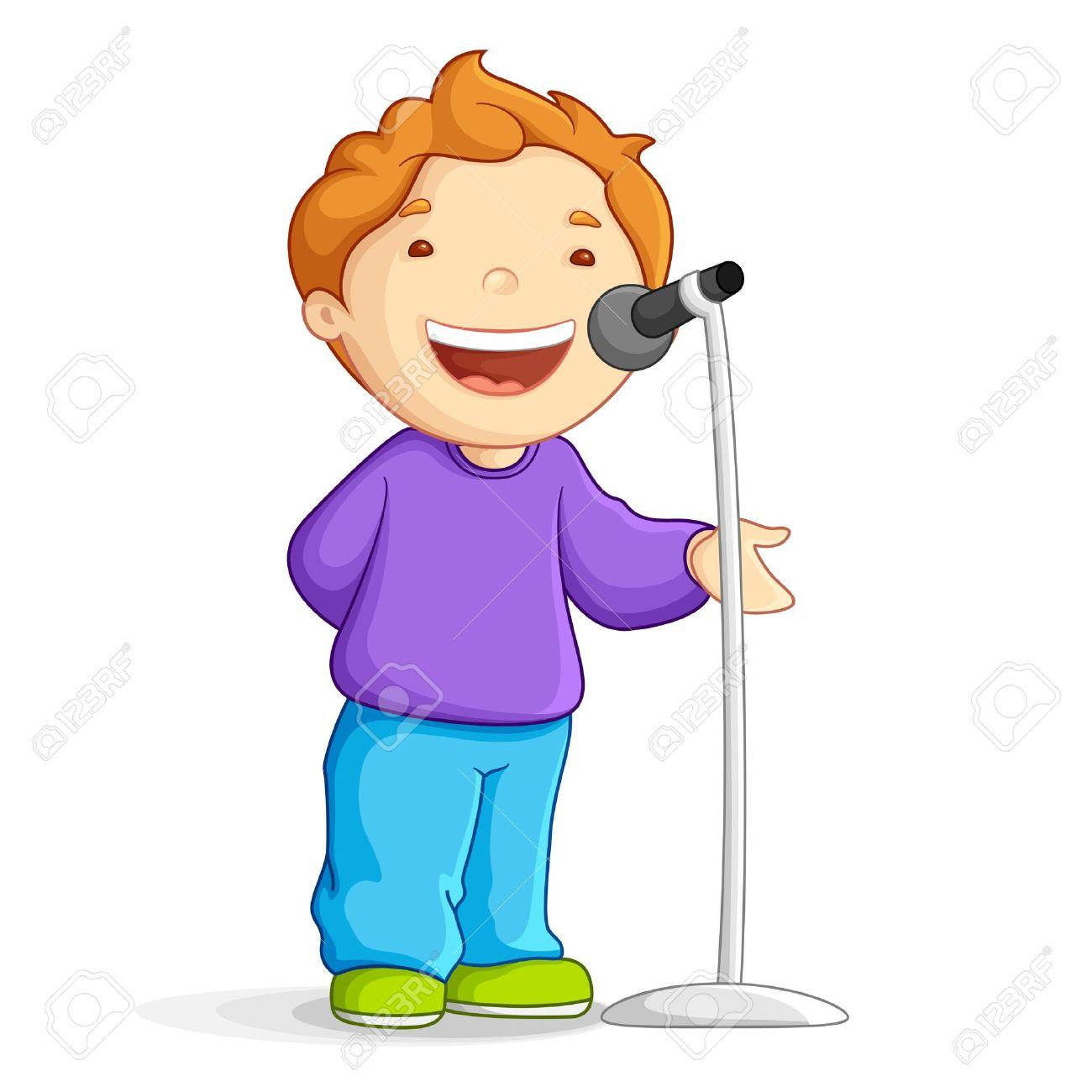 Male singer singing.