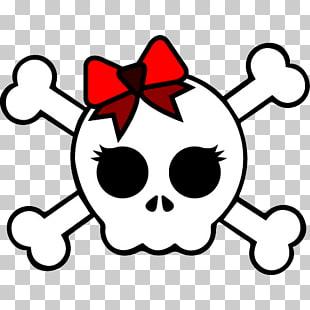 Girly skull png.