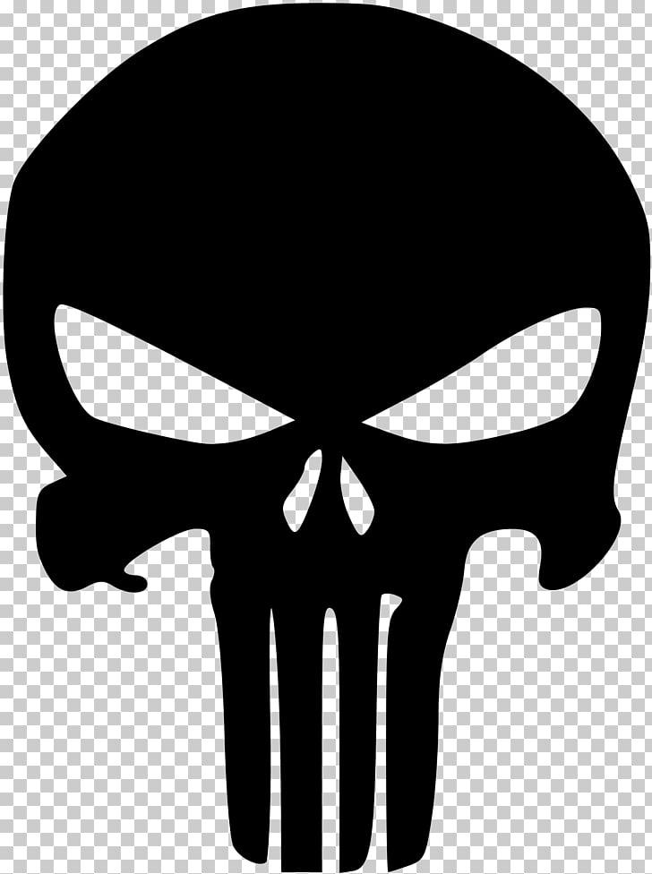 Punisher stencil skull.