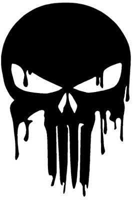 Dripping punisher skull.