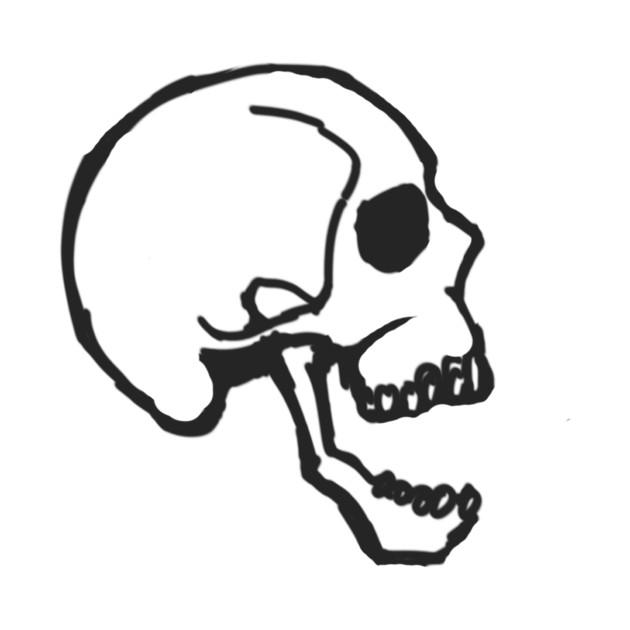 Side view skull.