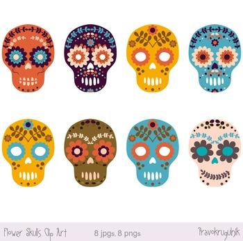 Sugar skull clipart.