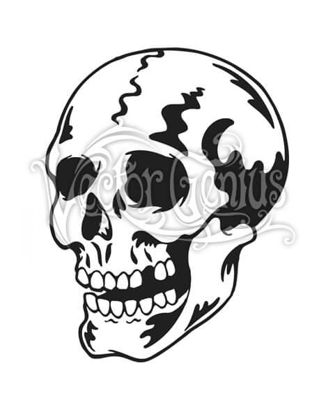 Classic skull tattoo.