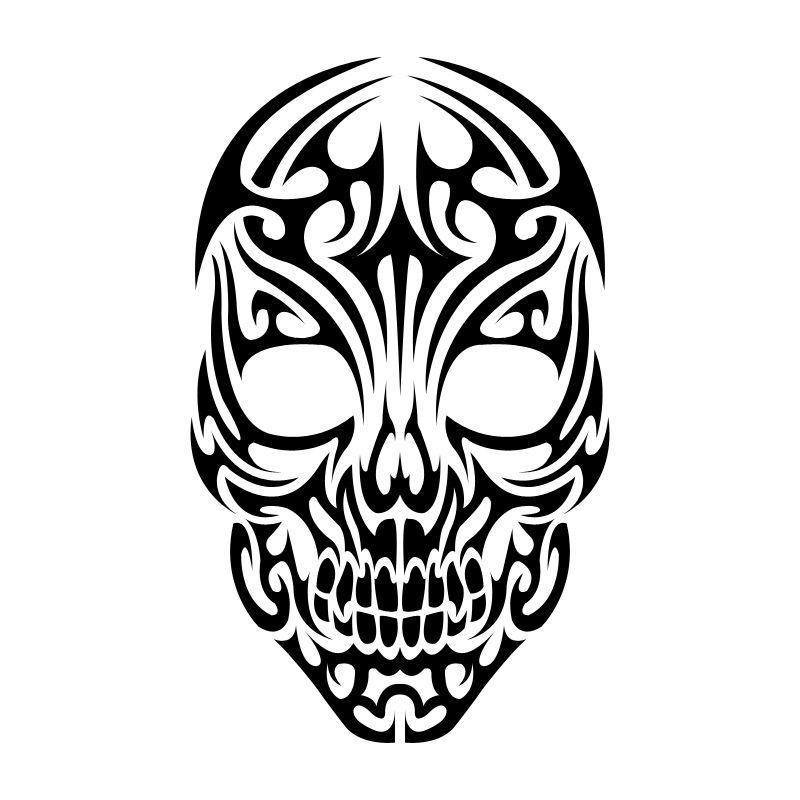 Tribal Skull Clipart