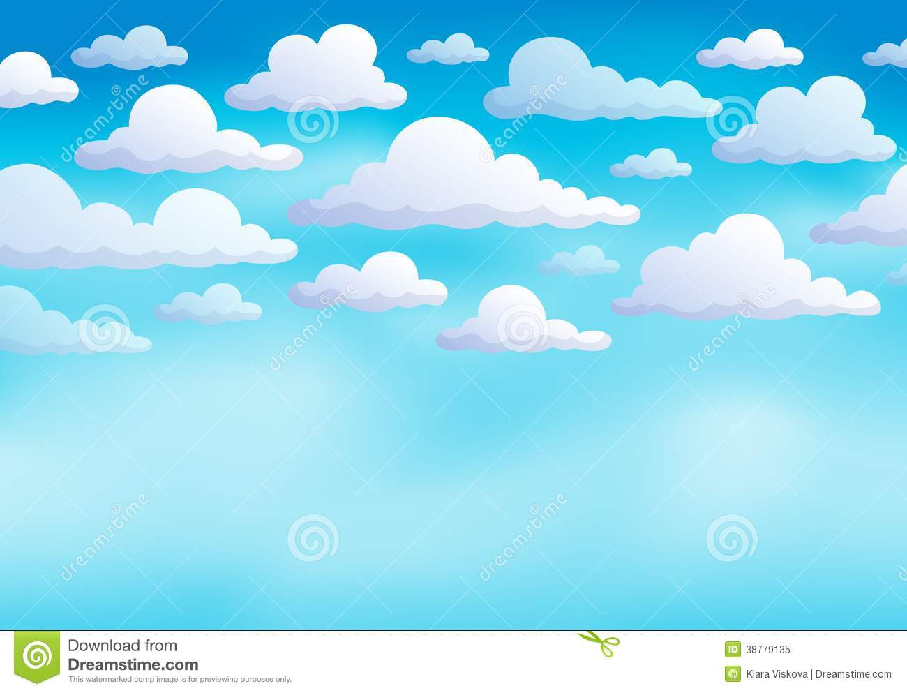 Cloudy sky background.