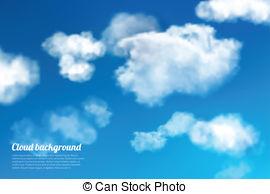 Cloudy sky vector.