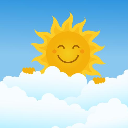 Sun Clipart Set Vector Illustration