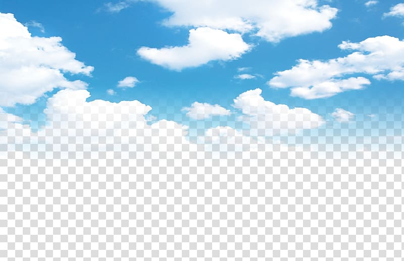 Cloudy sky poster.