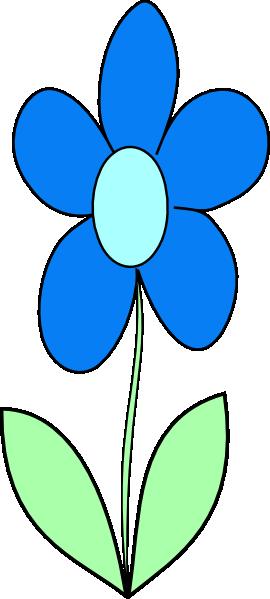 Blue flower png.