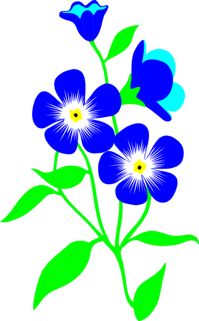 Flower Blue Clip art