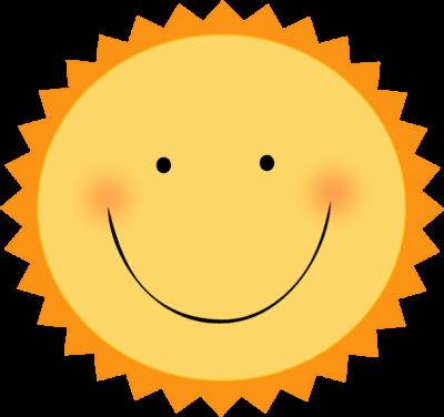 Smiley sun cliparts.