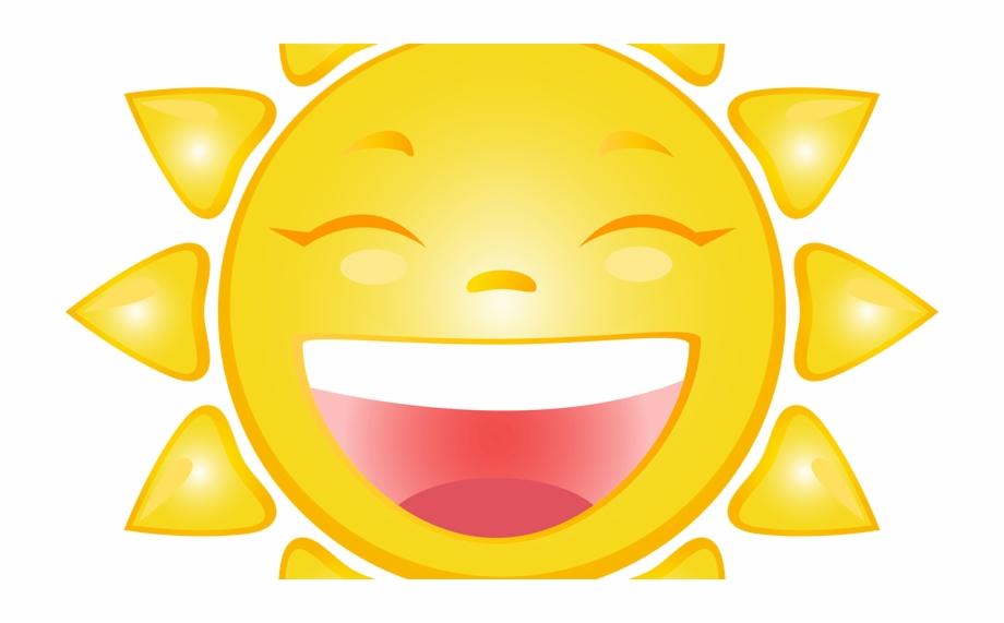 Cartoon smiling sun.