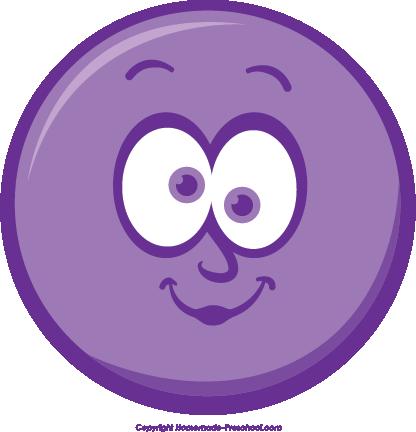 Purple Winking Smiley Face Clip Art