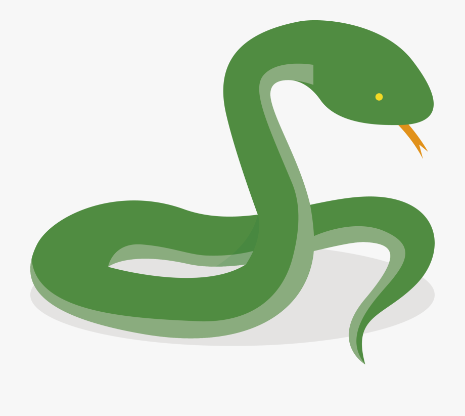 Smooth Green Snake Clipart Pear