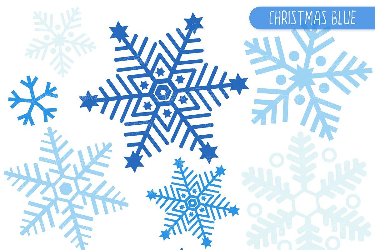 Blue snowflake clipart.
