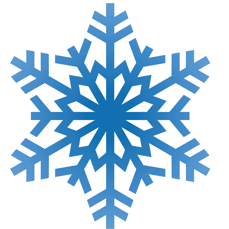 Free blue snowflake.