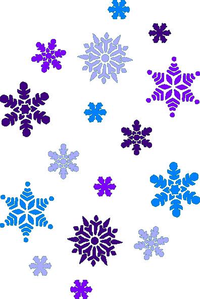 Snowflake clipart multi.