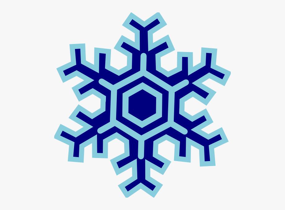Cartoon snowflake clipart.