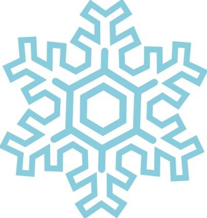 Free cartoon snowflake.