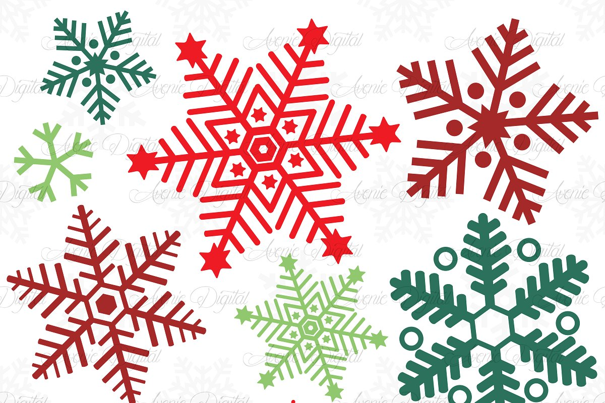 Christmas snowflakes illustrations.